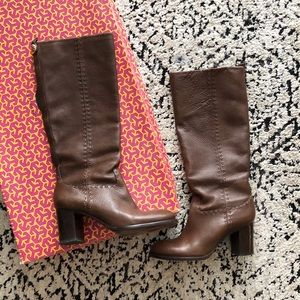 Tory Burch Brown Leather Boot Size 8